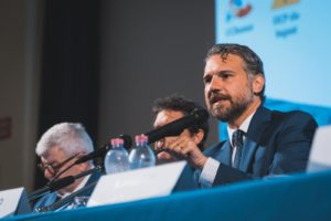 Il Presidente di Associazione Diplomatici, Claudio Corbino, durante i lavori di Mare Liberum